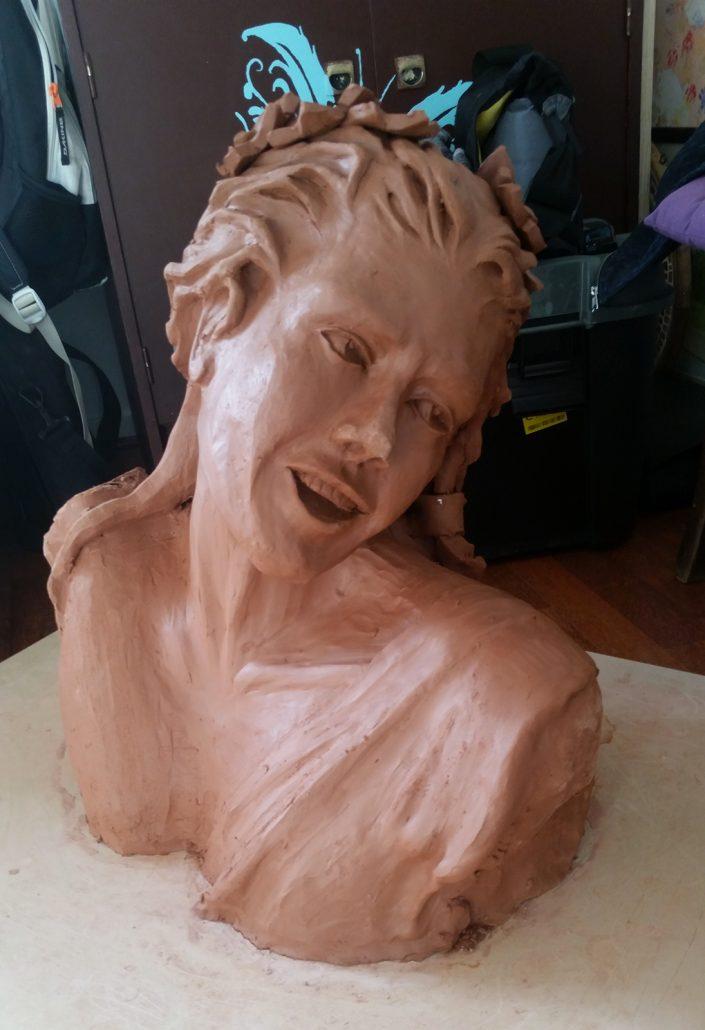Etude-sculpture-sur-argile-Chateau-Nouret-Civrac-Medoc
